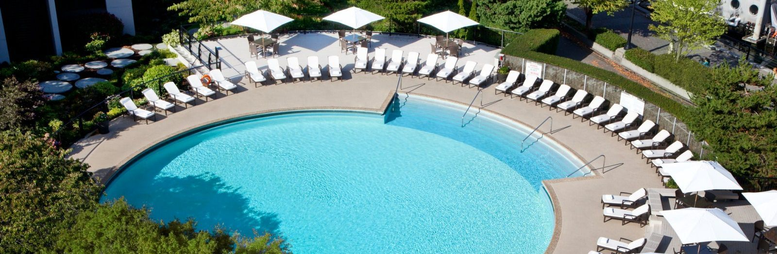 Enjoy our Vancouver hotel pool experience with our day pass package at The Westin Bayshore, Vancouver resort.
